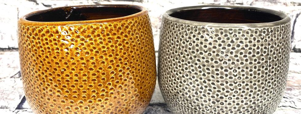 Dots pot brown or grey d12