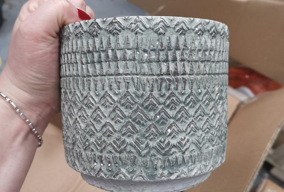 Kjeld pot round grey - h12,5xd14