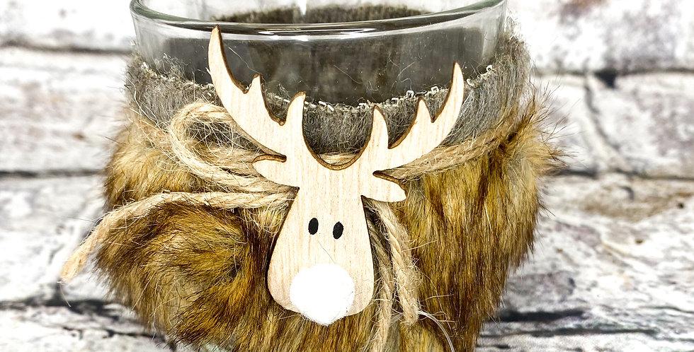 Tealight holder deer