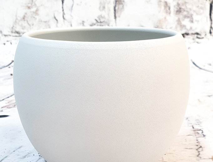 Monet pot round white