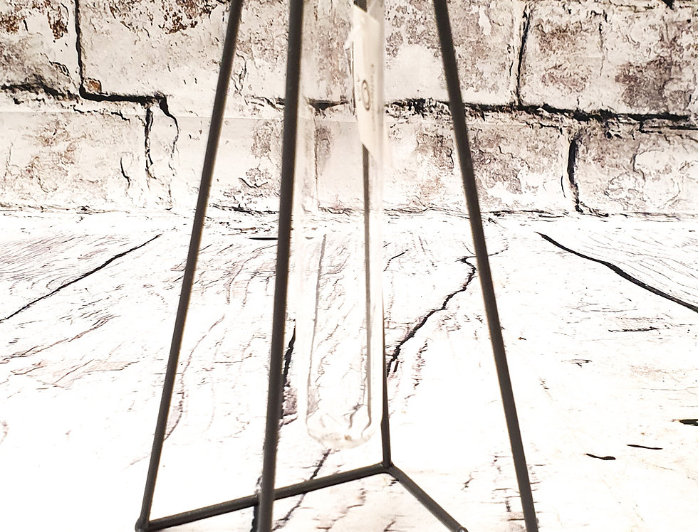 metal & glass vase