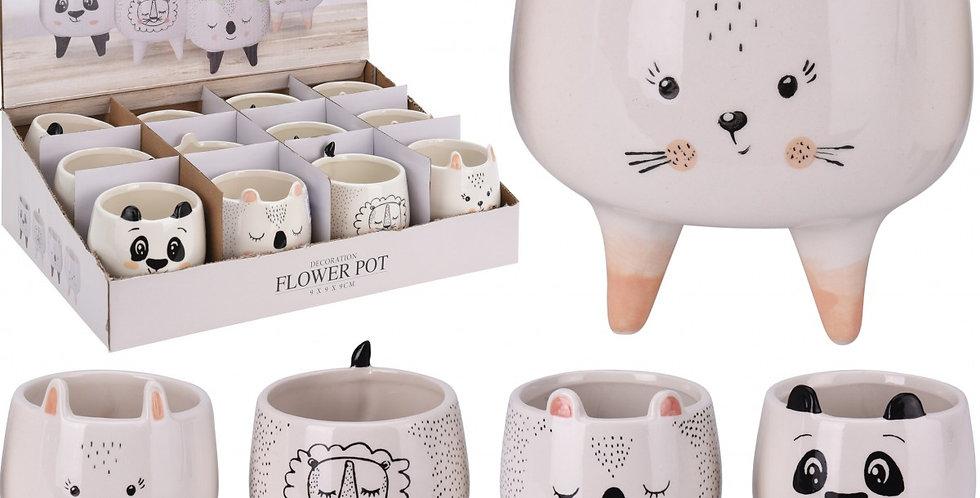 Mini animals ceramic pots