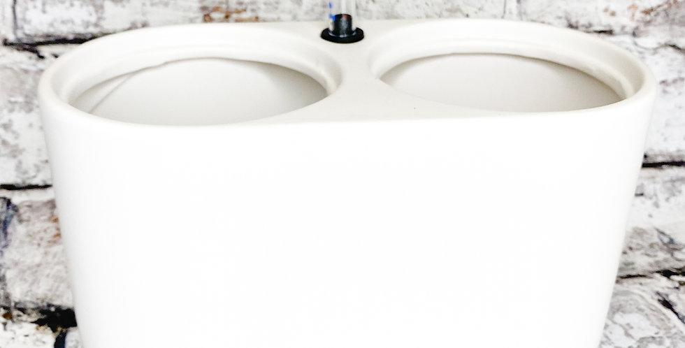 Ceramic: Calabrie aquo duopot 12cm white