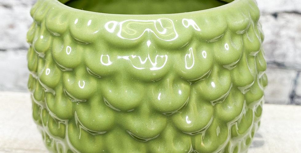 Green Olive Artichoke pot   d9cm