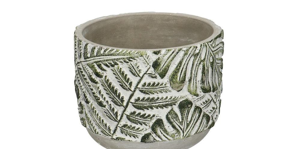 Ceramics Stone Leaf pot d12cm