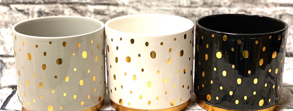Sparkle ceramic pot 12 cm