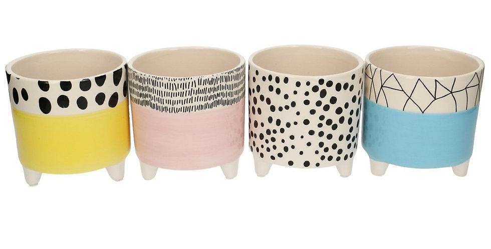 Ceramics Pot/base print d10*12cm