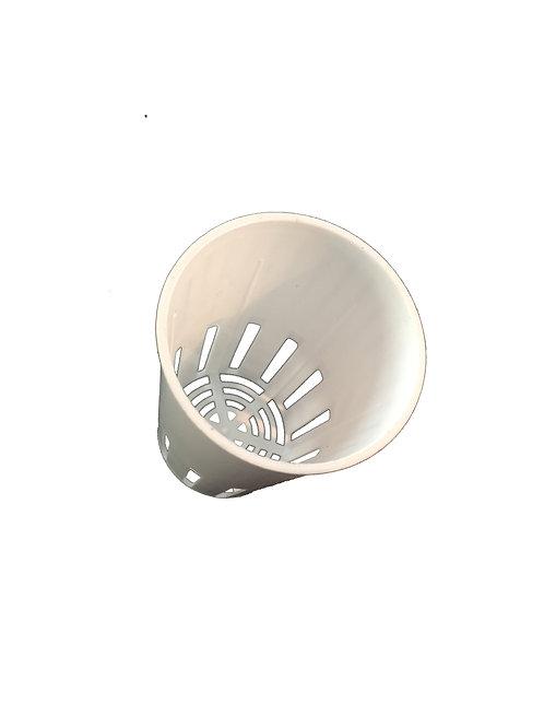 75mm Hvid Plastik ASG potte (10 stk)