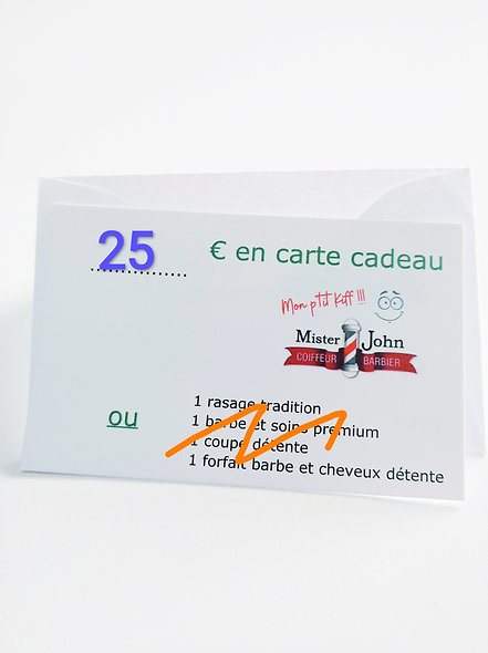 Carte cadeau  valeur 25€
