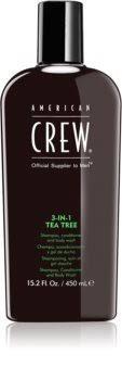 Gel douche Tea Tree 3 en 1 American Crew 450 ml