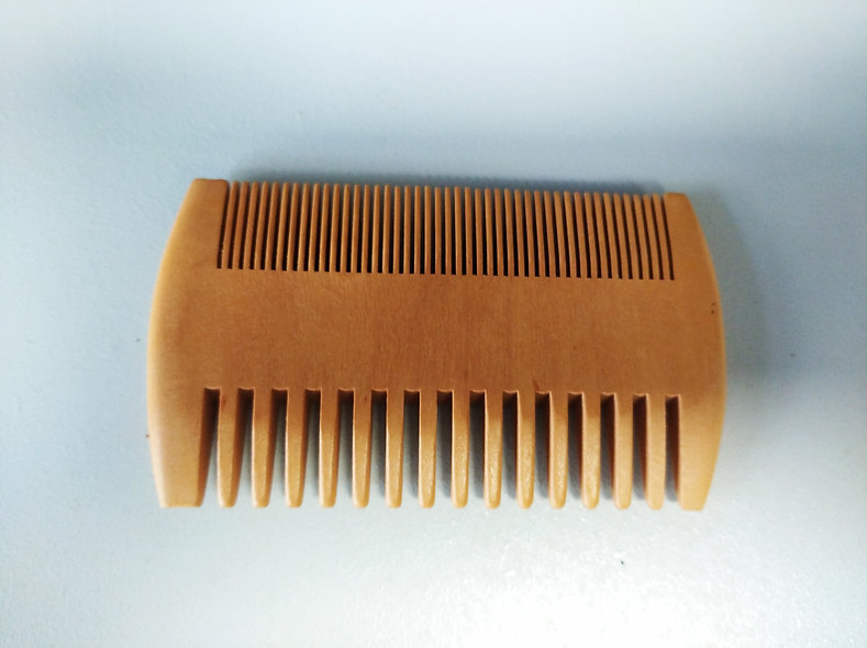 peigne à barbe antistatique bois
