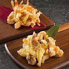 深井椒鹽鮮魷,椒鹽白飯魚