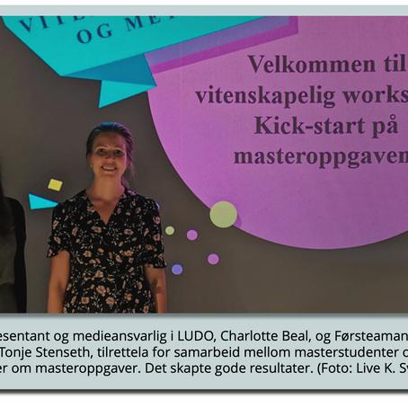 Workshop mellom forskningsmiljøer og lærerstudenter viser gode resultater