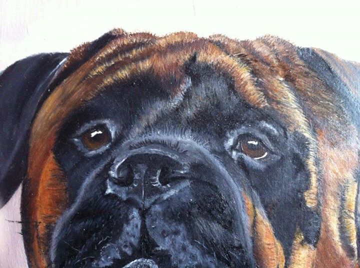 Dog Oil portraits in Detail