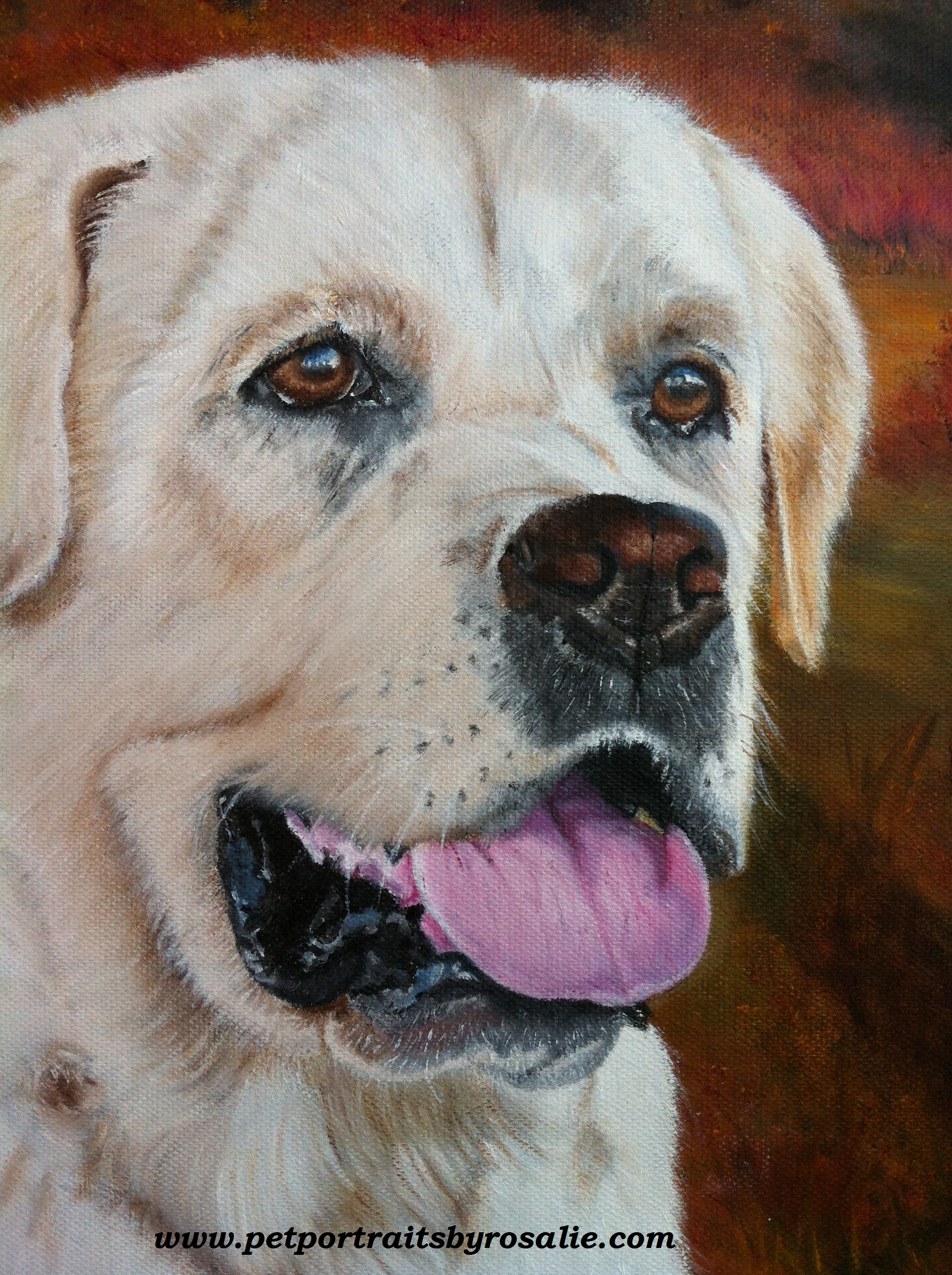 Dog Portrait Painting in detail