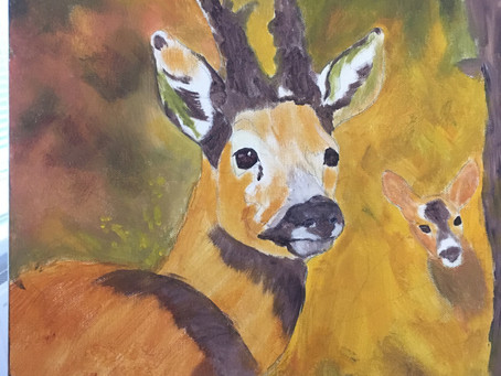 """Momma Deer and her """"Bambi""""....."""