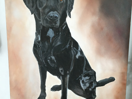 Tipper, almost off the easel