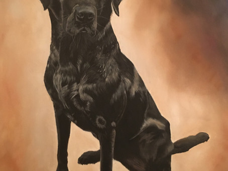 The finished painting of Tipper