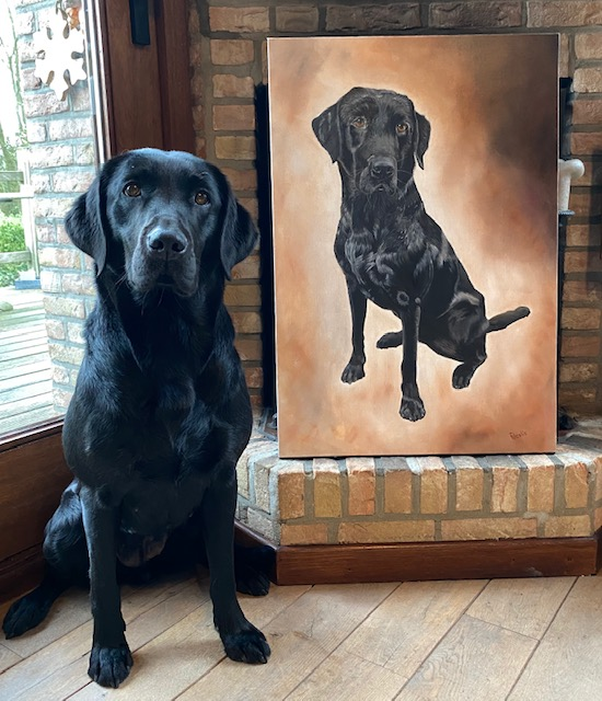 the real Tipper and his painting
