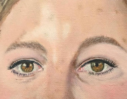 close-up eyes oilpainting