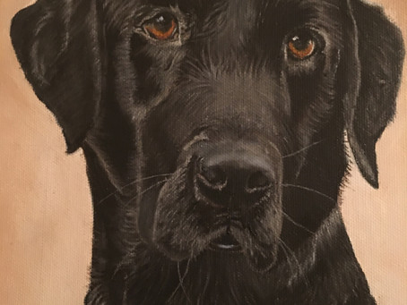 a close-up of Tipper's Painting