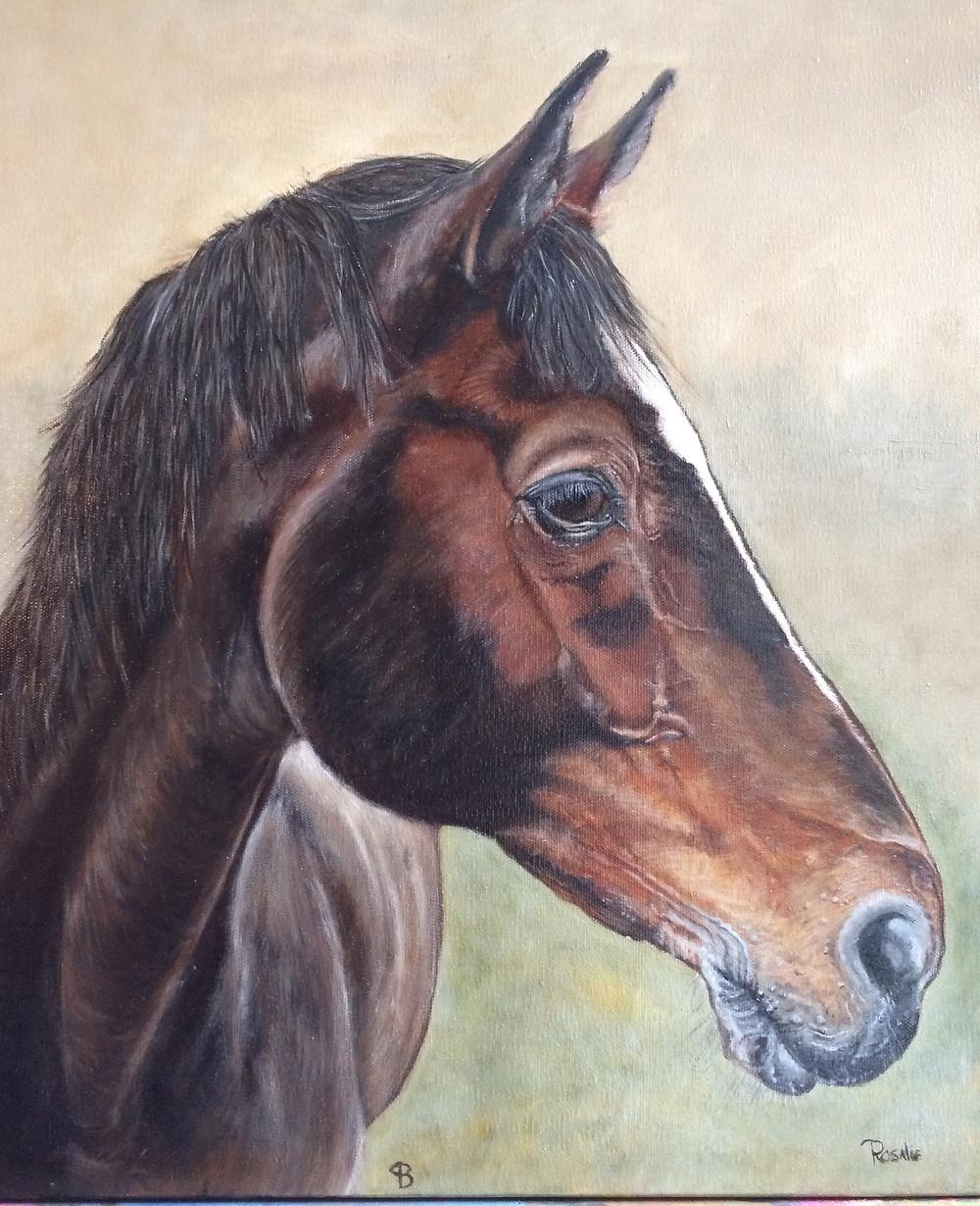 horse oil paintingby www.petportraitsbyrosalie.com