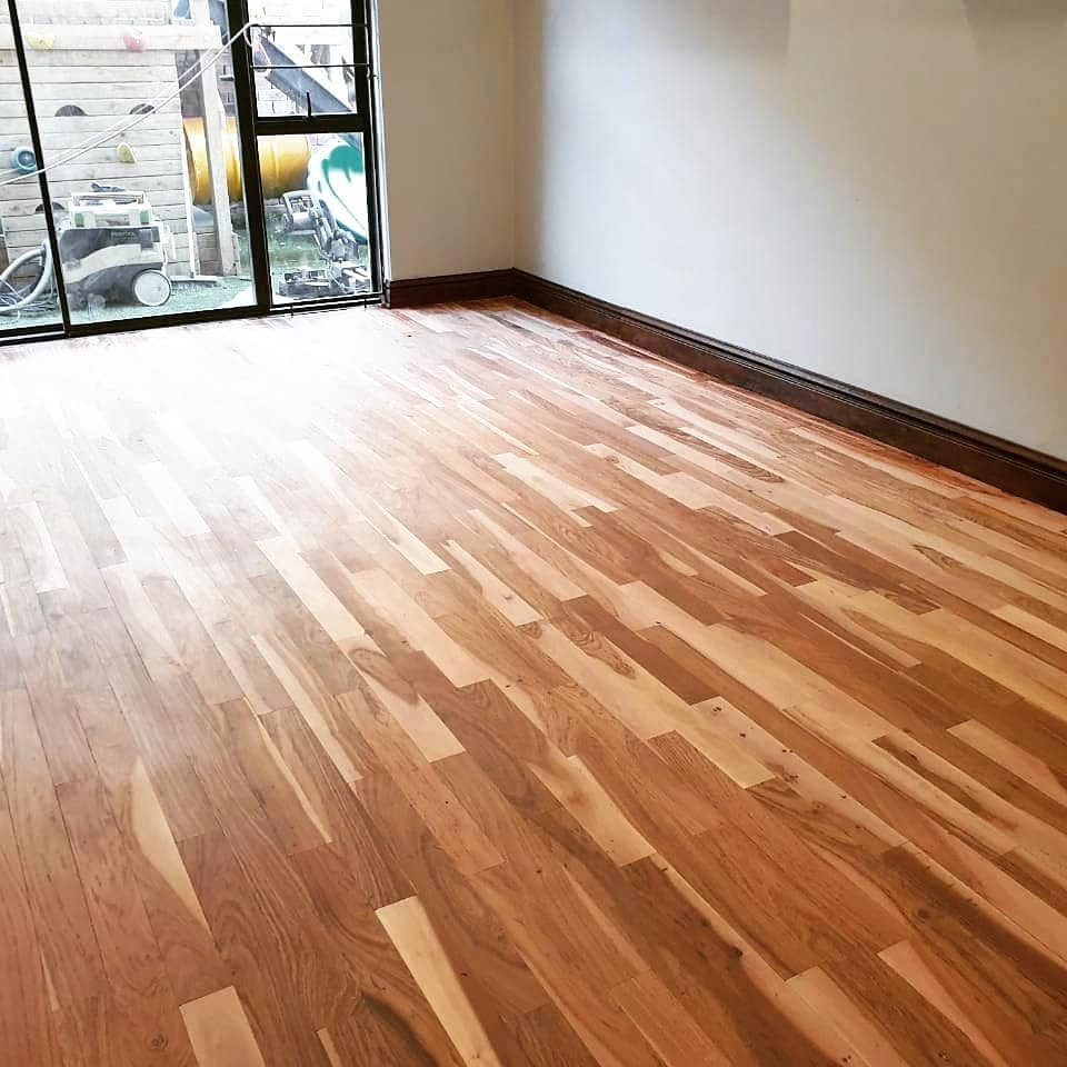 Teak Floor Sanded - Misty Mountain Timbe