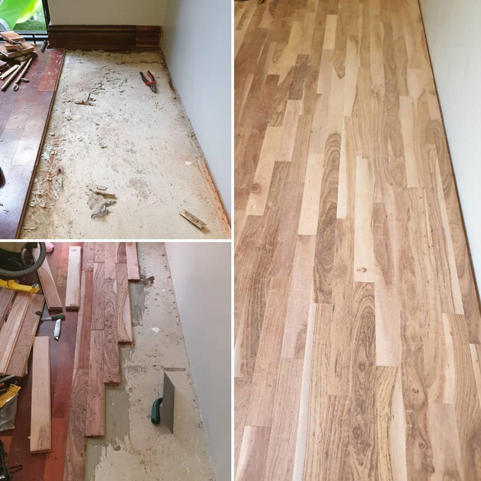 Flooring Progress  - Misty Mountain Timb