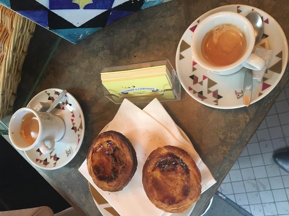 Comme a Lisbonne - Pastel de Nata and espresso