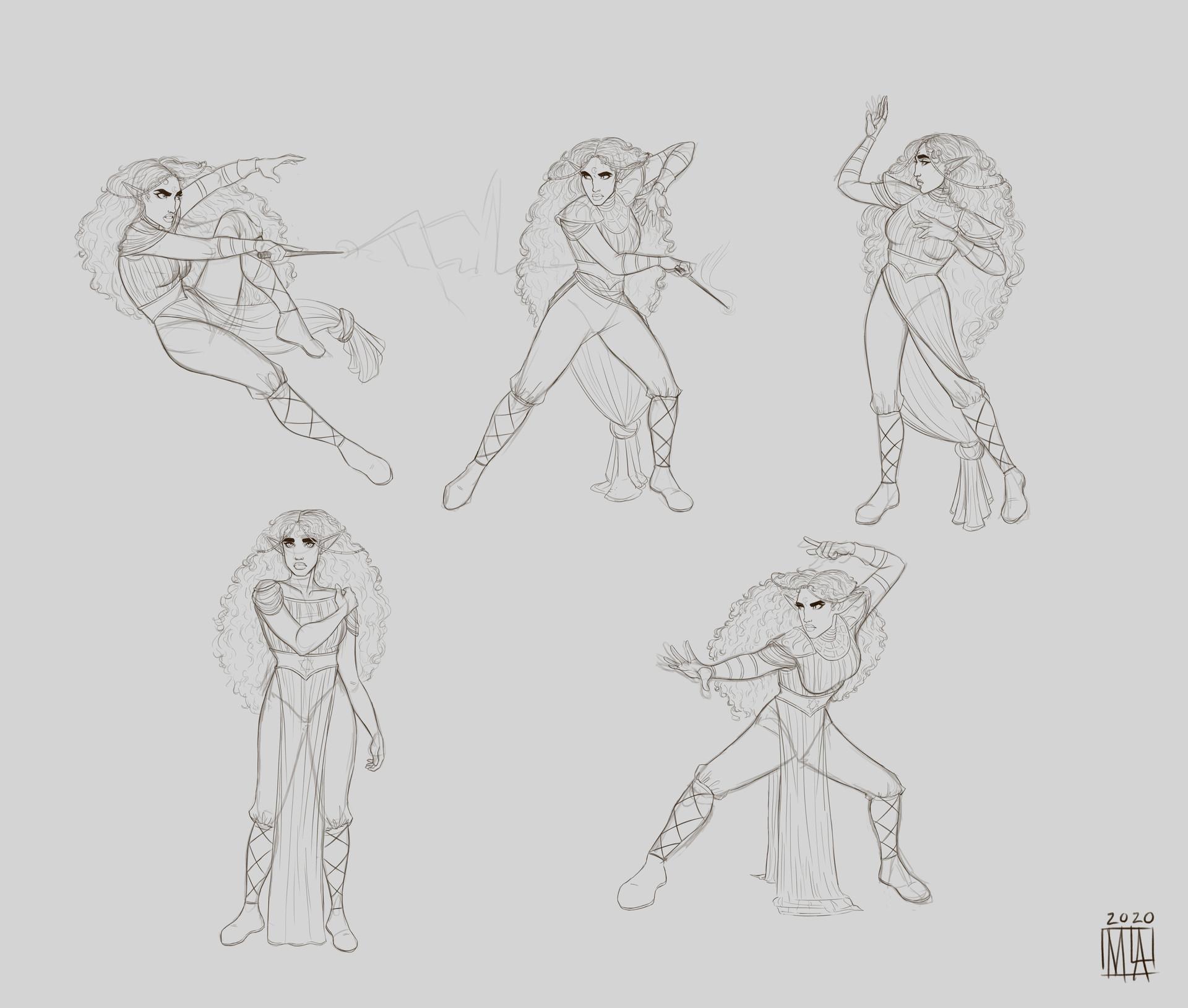 Tohren Poses sketch