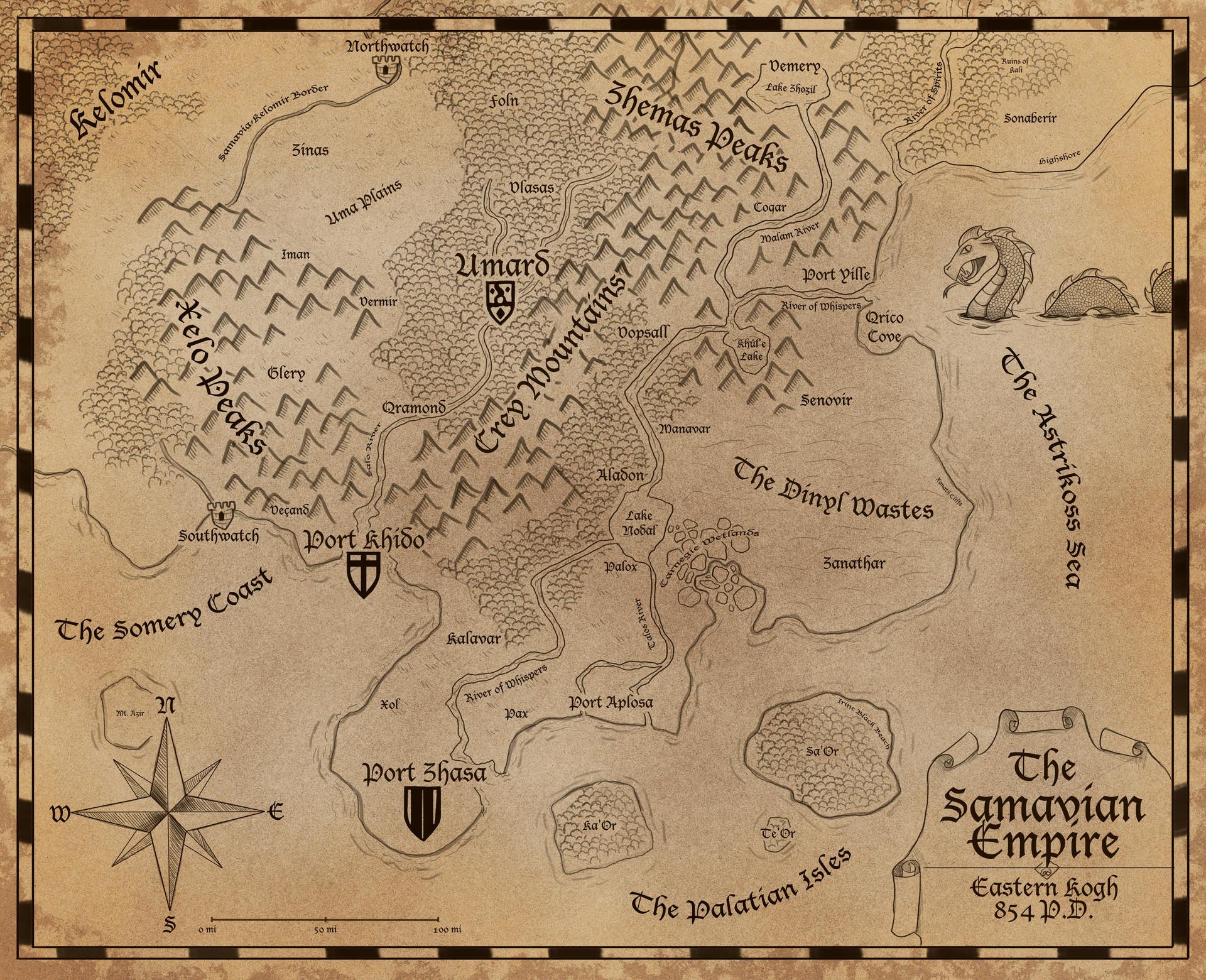 Samavia Map