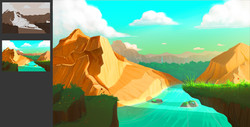 mountain background color