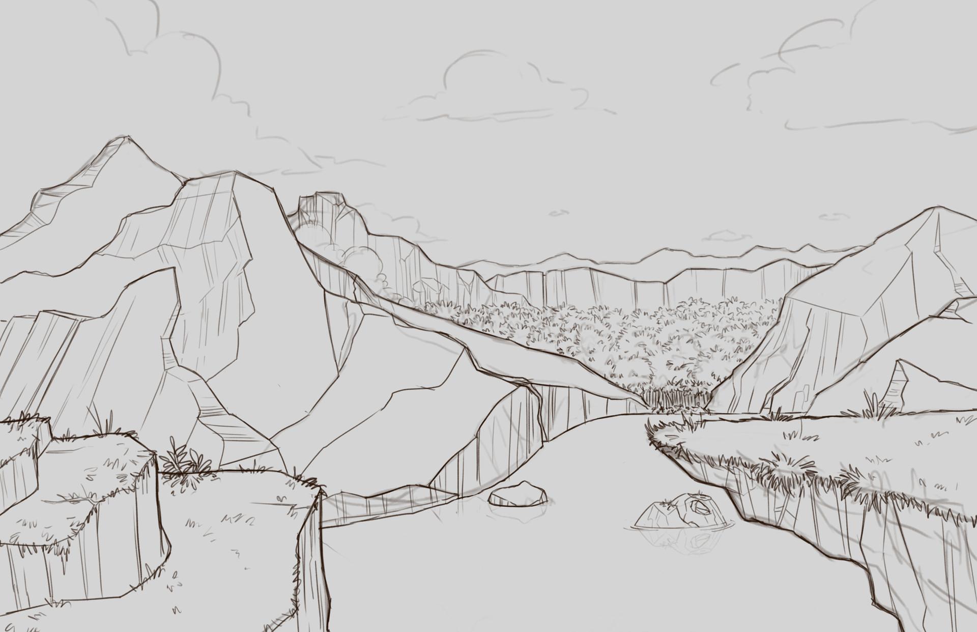 Crey Mountains sketch