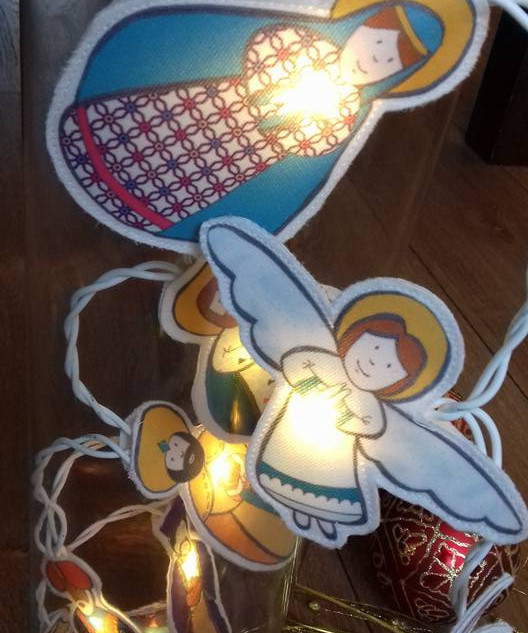 Guirlande-crèche de Noël