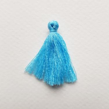 Pompon bleu céleste
