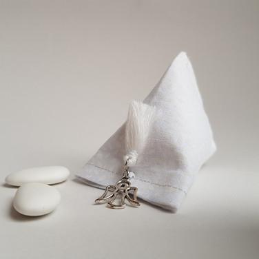 Motif grain de riz blanc