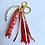 Thumbnail: Porte clef dizainier- coloris or- ichthus pailleté