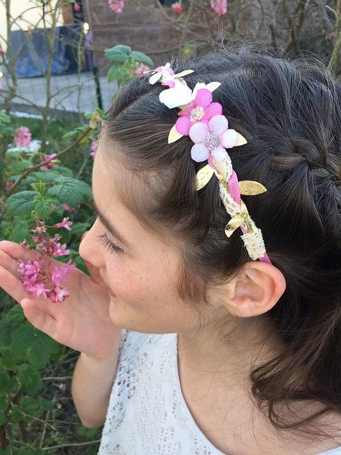 Couronne de fleurs - Modèle Abigaël