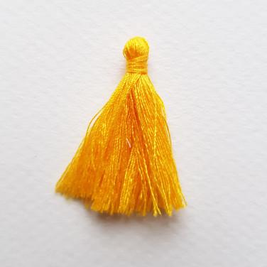 Pompon jaune bouton d'or