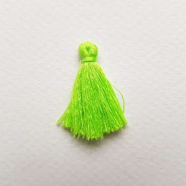 Pompon vert lime