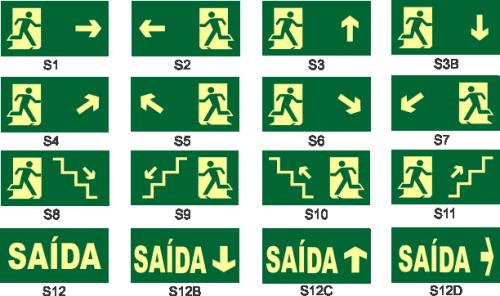 instalação de sinalização de emergencia avcb rota de fuga