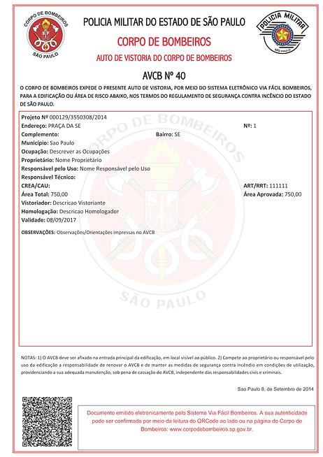 AVCB - CLCB - BOMBEIROS - PROJETO TECNICO - SINALIZAÇAO DE EMERGENCIA