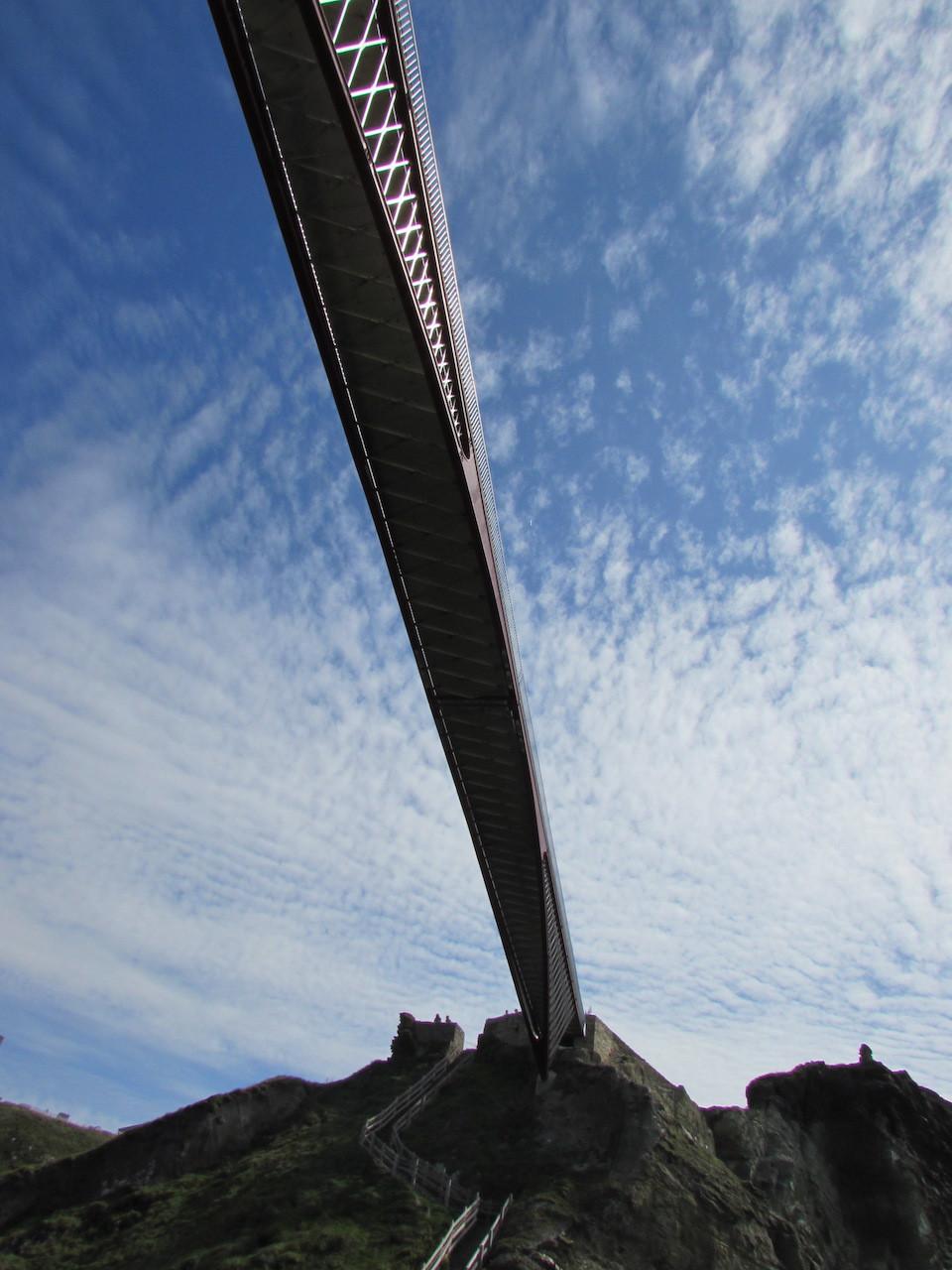 Tintagel bridge from below