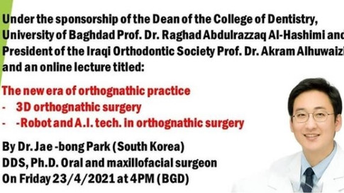 Invited speaker for Double jaw surgery at Baghdad University