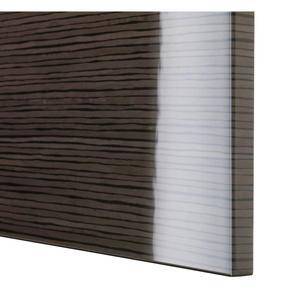 Brown striped highgloss doors