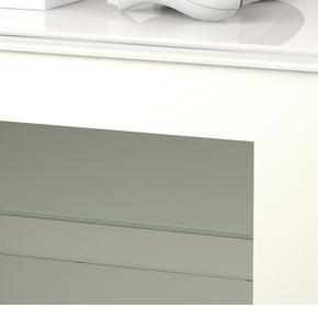 White framed clear glass door