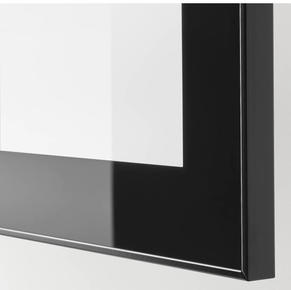 Black frame frosted glass doors