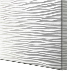White ripple texture doors