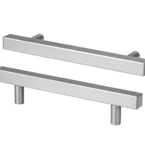 Brushed nickel bar handles
