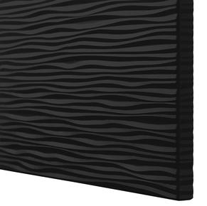 Black ripple texture doors